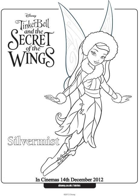 Silvermist Colouring Page