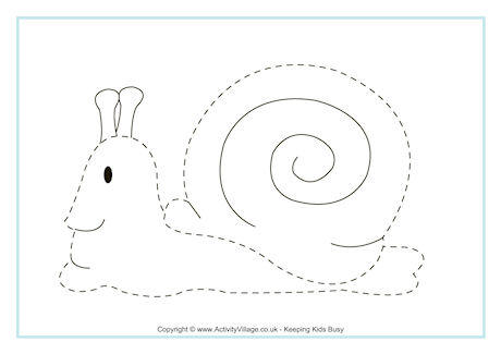Snail Tracing Page