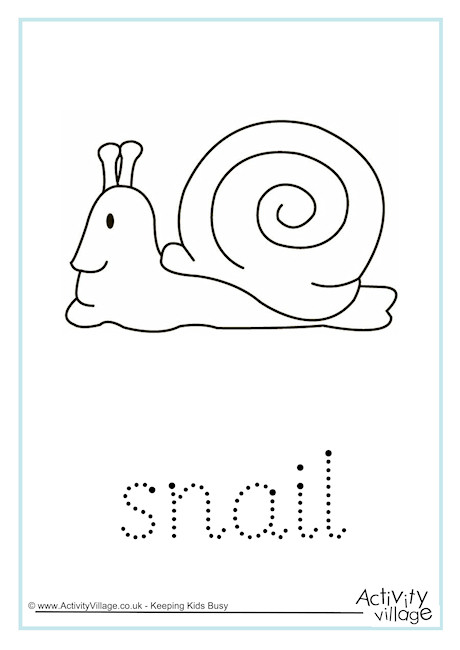 Snail Word Tracing