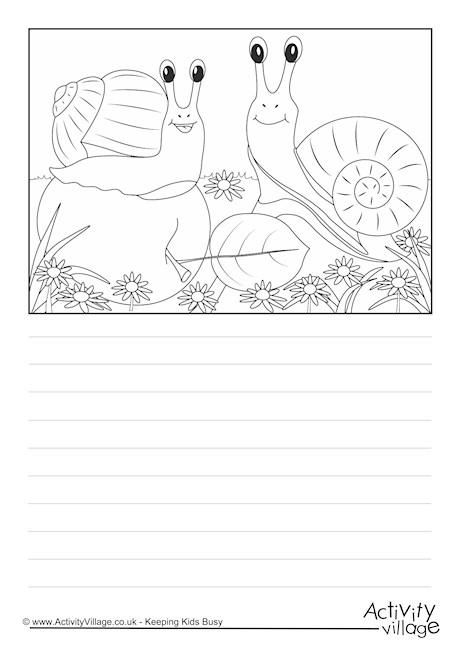 Snails Scene Story Paper