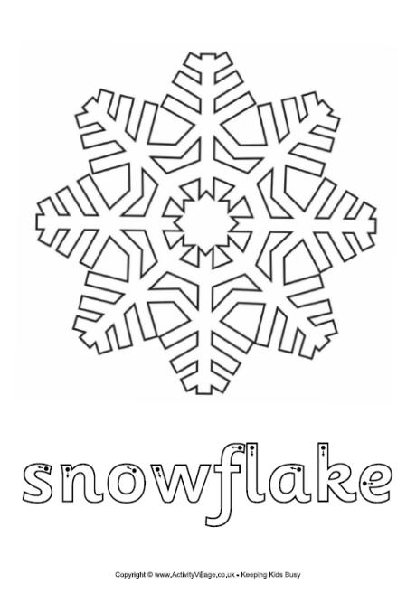 Snowflake Finger Tracing