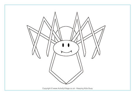 Spider Colouring Page