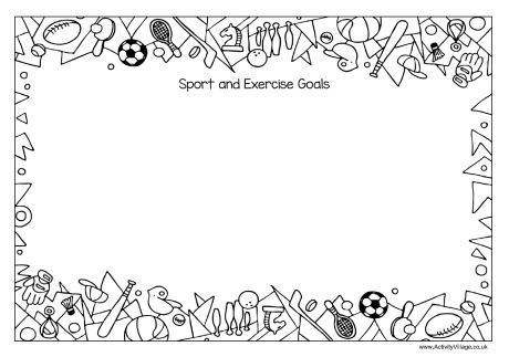 Sport and Exercise Goals Writing Frame