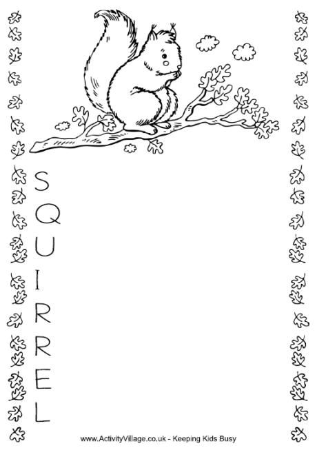 Squirrel Acrostic 2