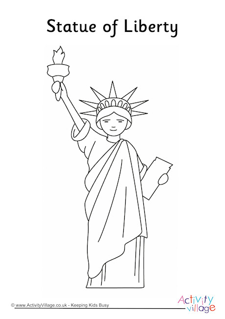 Statue of Liberty Colouring Page 2