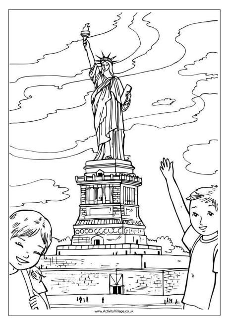 Statue of Liberty Colouring Page