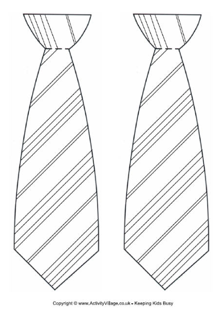 Striped Tie Template