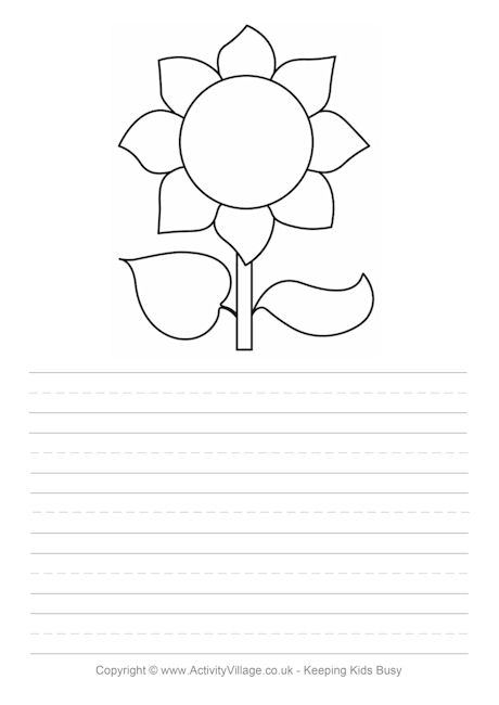 Sunflower Story Paper