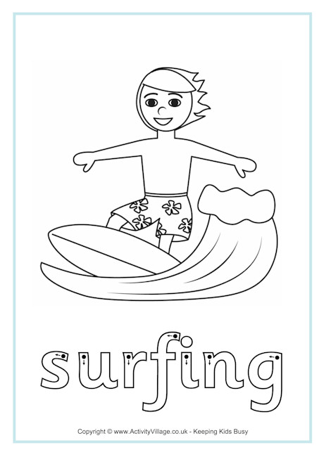 Surfing Finger Tracing