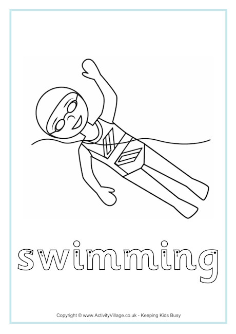 Swimming Finger Tracing