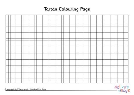 Tartan Colouring Page 2