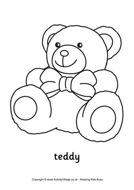 Teddy Colouring Page 2