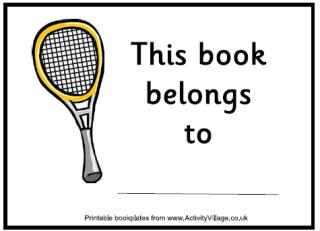 More Tennis Printables
