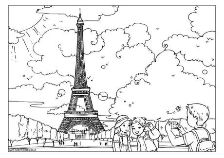 The Eiffel Tower Colouring Page