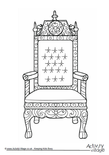 Throne Colouring Page 1