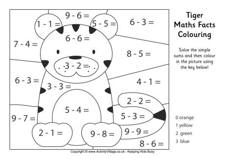 All Worksheets » Maths Calculated Colouring Worksheets
