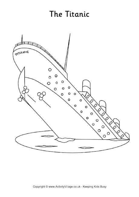 Titanic Colouring Page