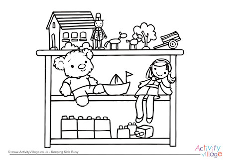 Toys Colouring Page 2