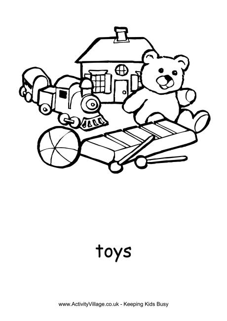 Toys Colouring Page