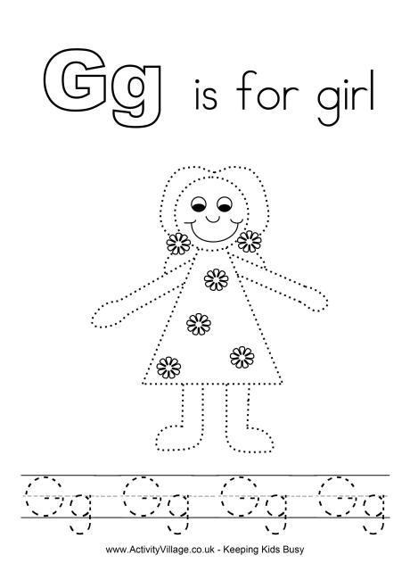 Tracing Alphabet G