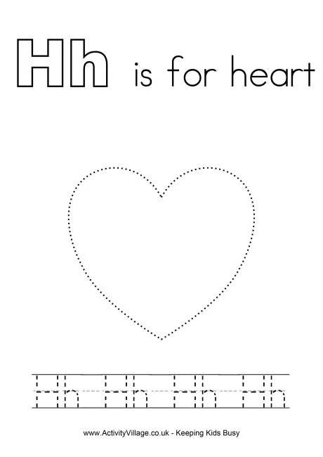 Tracing Alphabet H