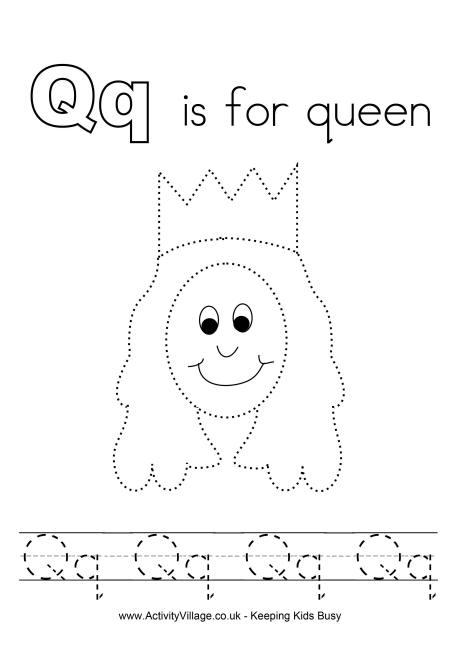 Tracing Alphabet Q