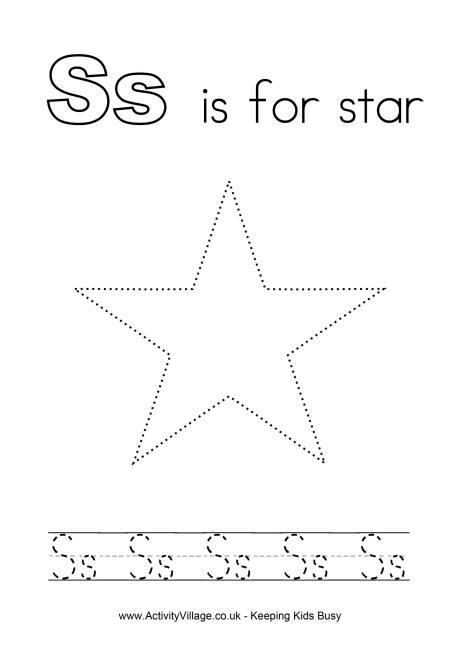 Tracing Alphabet S