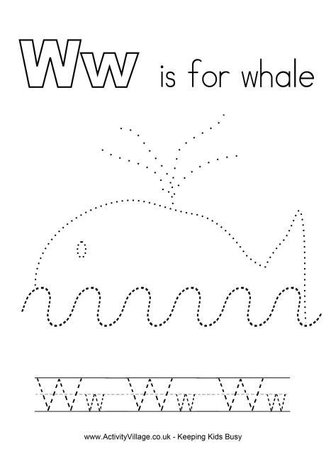 Tracing Alphabet W