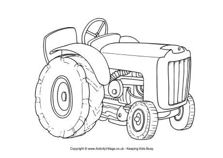 Tractor Colouring Page
