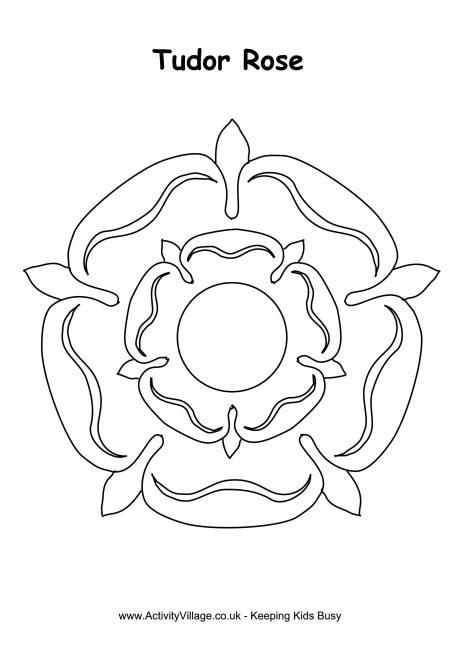 Tudor Rose Colouring Page