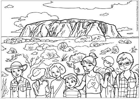 Uluru colouring page