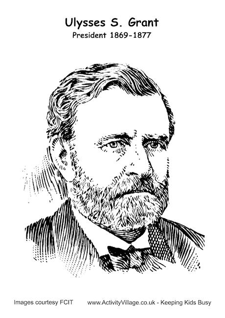 Ulysses Grant Colouring Page
