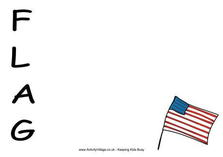 US Flag Acrostic Poem Printable