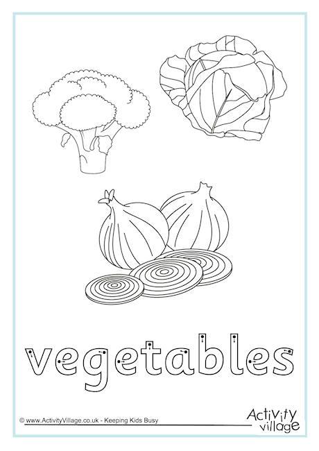 Vegetables Finger Tracing