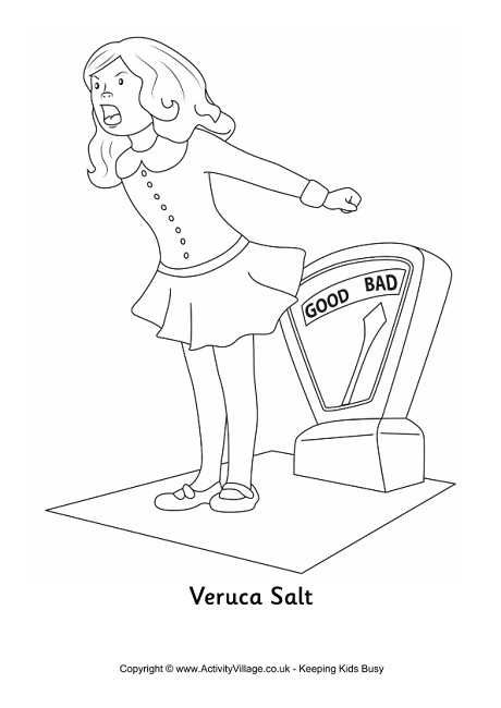 Veruca Salt Colouring Page