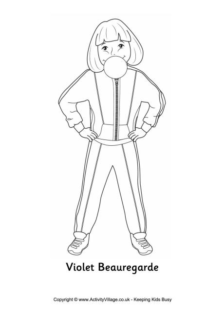 Violet Beauregarde Colouring Page