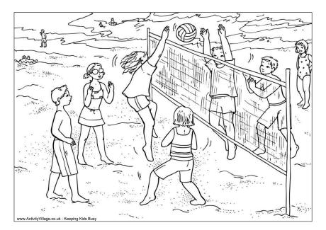 Volleyball Colouring Page 2