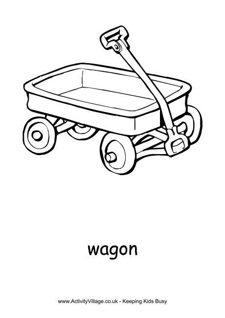 Wagon Colouring Page