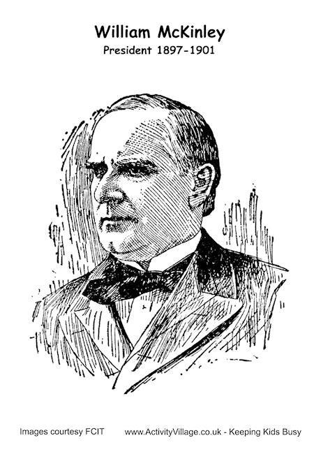 William McKinley Colouring Page