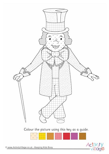 willy wonka colourpattern