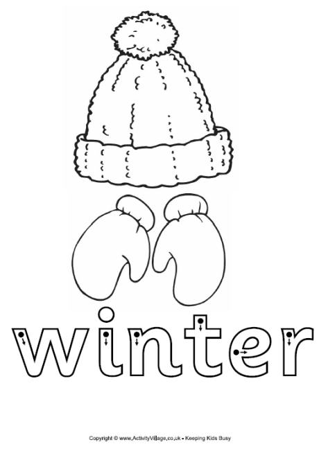Winter Finger Tracing