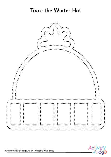 Winter Hat Tracing Page
