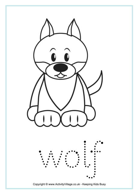 Wolf Tracing Worksheet