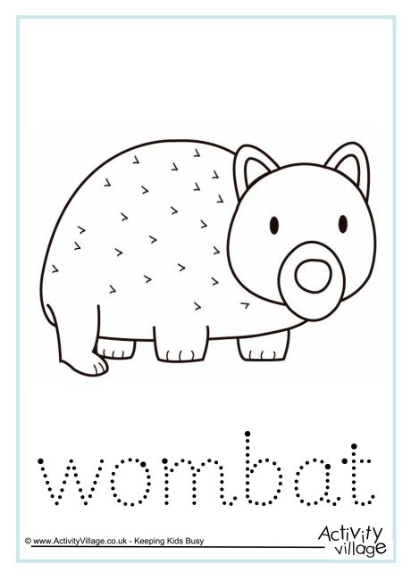 Wombat Word Tracing