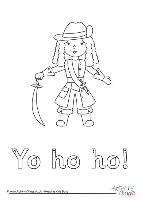 Yo Ho Ho Finger Tracing