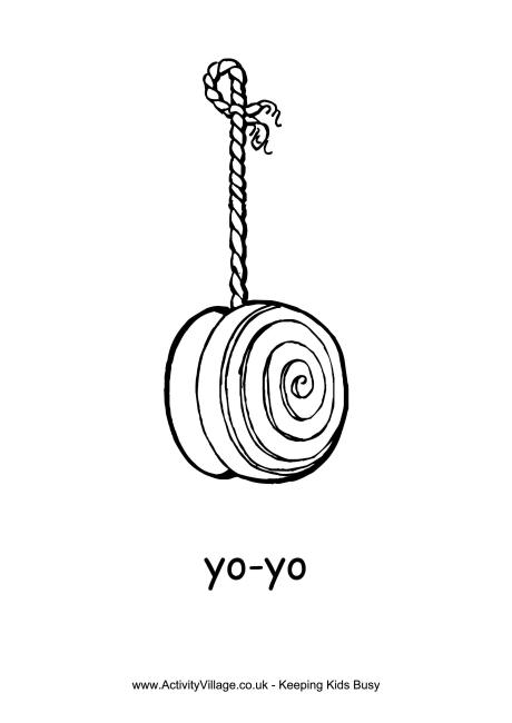Yo-yo Colouring Page