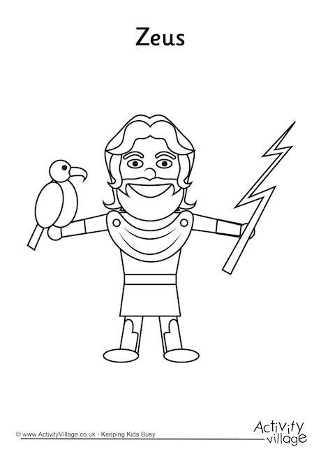 Zeus Colouring Page