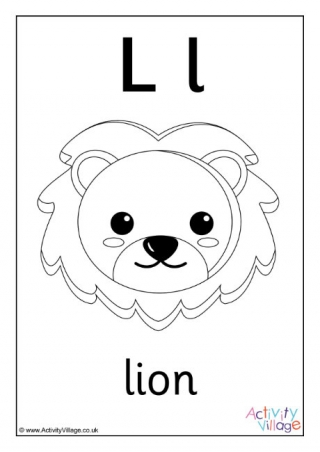 Letter L Colouring Pages