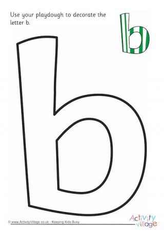Alphabet Decorate The Letter B Playdough Mat Upper Case