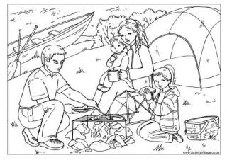 camping coloring page # 14